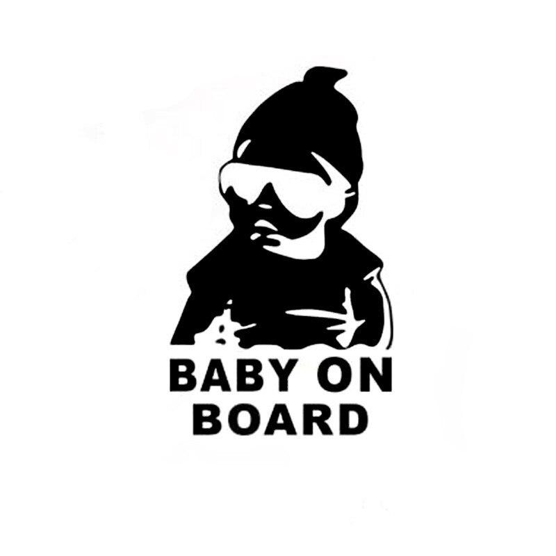 Etiqueta engomada del coche de 14*9CM bebé de divertido reflectante pegatinas para niños para Acura RLX CL EL CSX ILX MDX NSX RDX RL SLX TL TSX Vigor ZDX