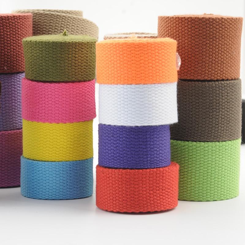 5 meters 25mm Canvas Ribbon Belt Bag Webbing Nylon Webbing Knapsack Strapping Sewing Bag Belt Access