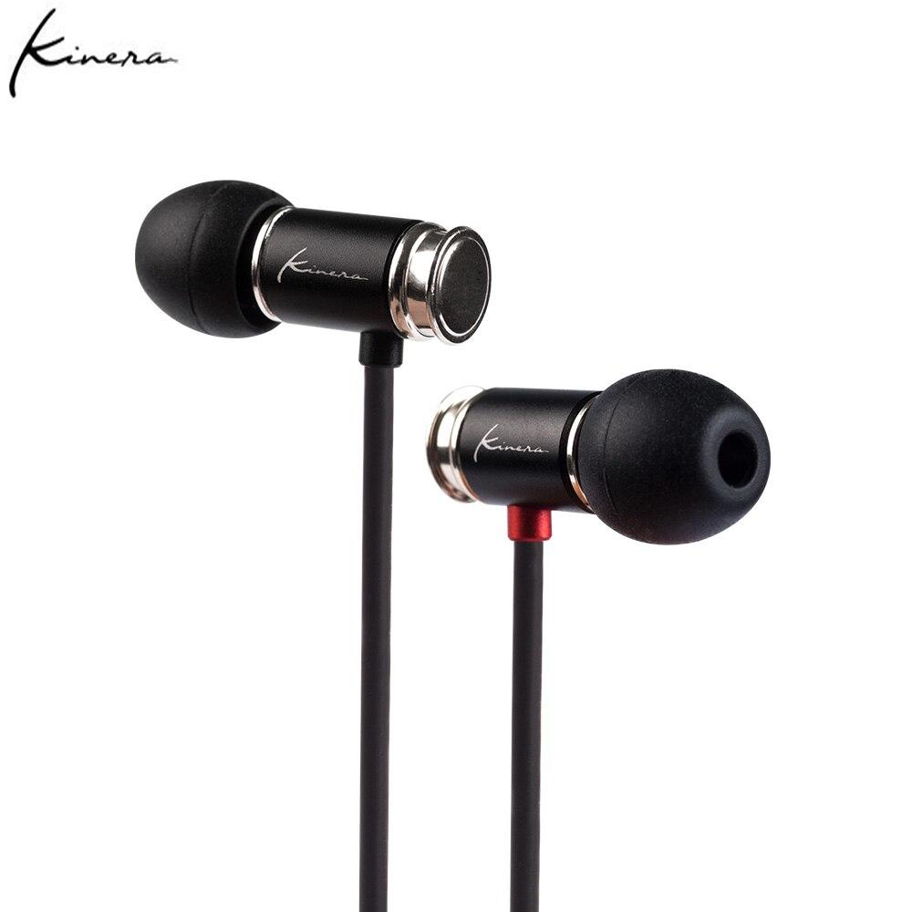 KINERA-سماعات داخل الأذن ، سماعات رأس ديناميكية HIFI DJ للتشغيل والرياضة مع ميكروفون