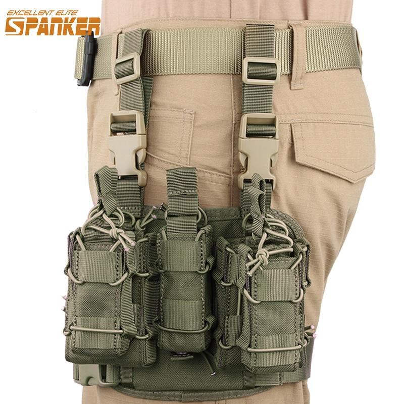 ممتازة النخبة المفك التكتيكية مزيج كليب حقيبة الساق معلقة حافظات ماج الحقيبة ل M14 M16/G36/قوس/PMAG المجلات
