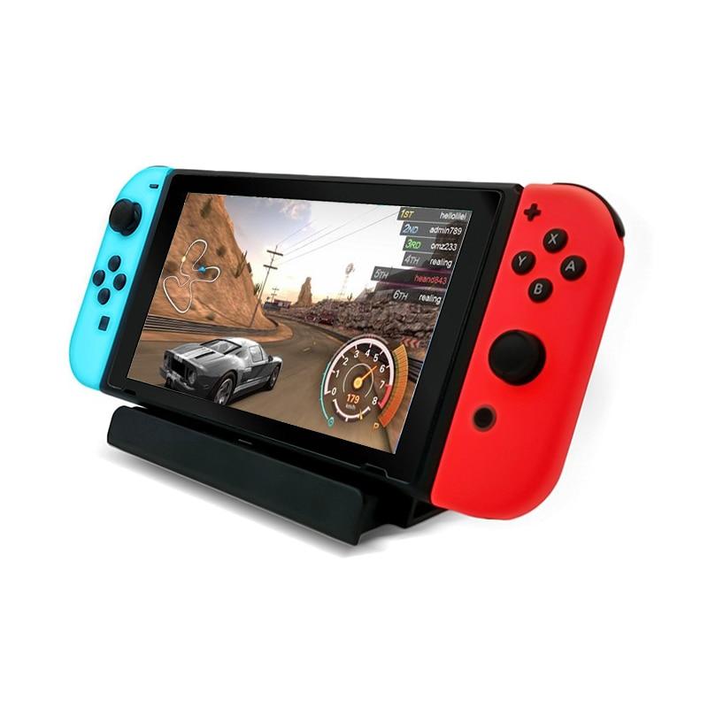Base de carga para Nintendo Switch /Lite estación de carga soporte con Cable USB tipo-c gran velocidad de carga buena fiabilidad