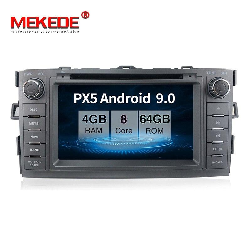 PX5 android 9,0 4GB + 64GB coche reproductor multimedia navegación GPS de DVD para toyota auris 2008-2012 con wifi BT carplay USB tics navi