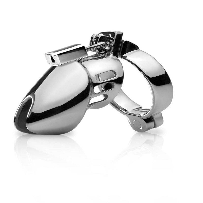 Dispositivo de castidade masculino, cadeado curto de metal para homens de 40 45 e 50mm cb6000s