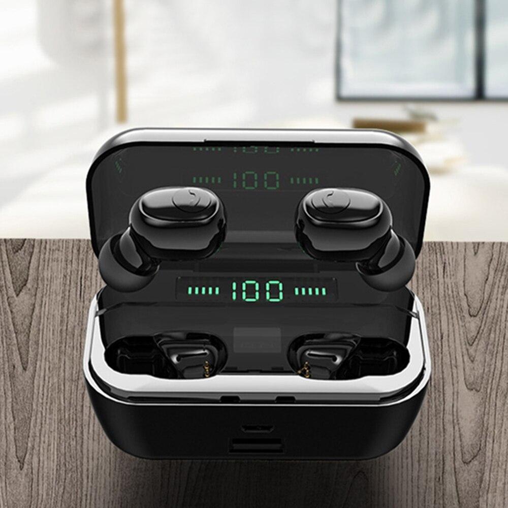 8D Stereo Wireless Headset G6S TWS 5.0 New Bluetooth Headset Mini 3500 MAh Stereo Earphones Microphone Wireless Charging
