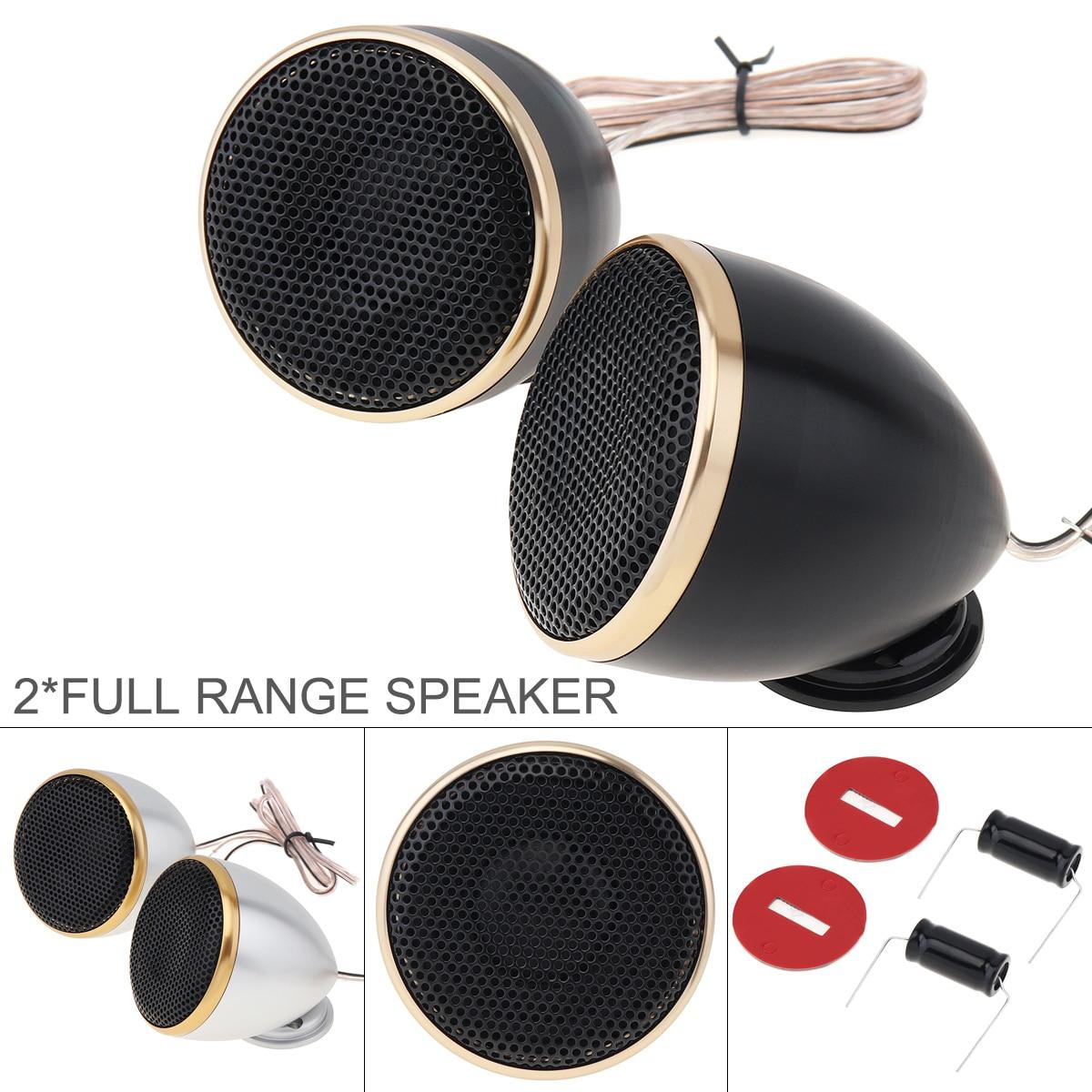 2pcs 2.5 Inch Aluminum Midrange Car Tweeter Speaker 4 Ohm 200W HIFI Music Speakers for Car Audio System For Car Vehicles