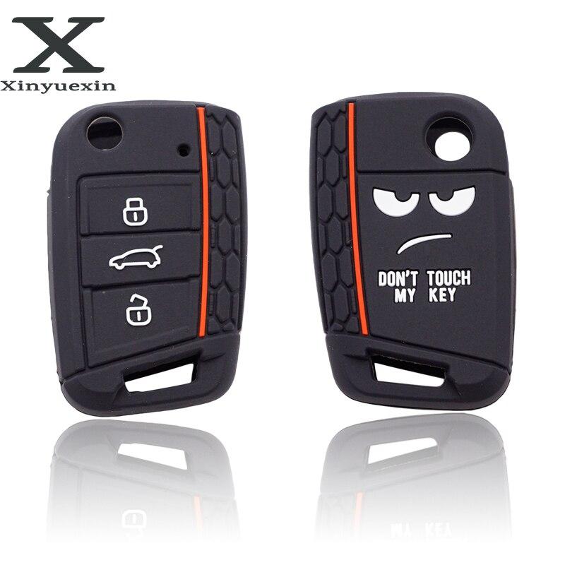 Xinyuexin Nicht Touch Mein Schlüssel 3 Tasten Auto Schlüssel Abdeckung fall Für VW Golf 7 MK7 Sitz 3 Ibiza 4 arona Ateca Skoda Octavia