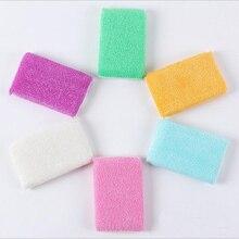 50pcs/lot ANTI-GREASY bamboo fiber wrap sponge washing dish brush,magic multi-function wipping/cleaning sponge