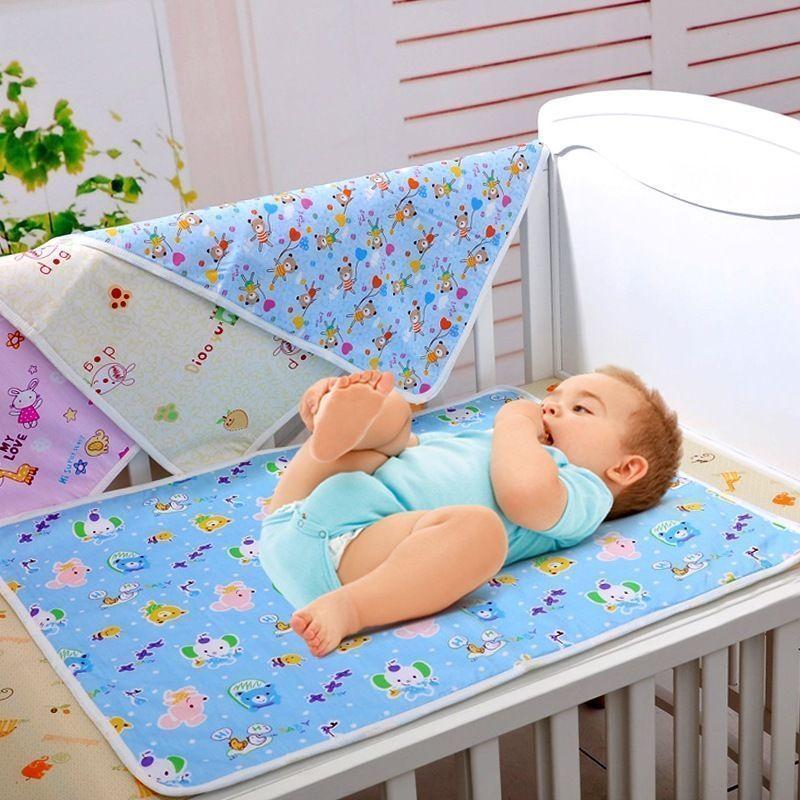 Doublures de coussins à langer pour nouveau-né   Tapis à langer imperméable en bambou pour bébé, tapis à langer imperméable, motif aléatoire