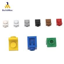 BuildMOC Compatible Assembles Particles 36840 1x1 side bump plate For Building Blocks Parts DIY LOGO Educational gift Toys