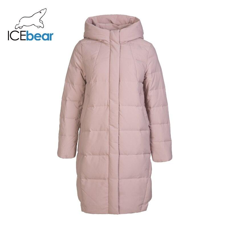 ICEbear 2019 nuevo abrigo largo de Invierno para mujer abrigo de moda cálido chaqueta de mujer con capucha marca ropa de mujer GN218123P