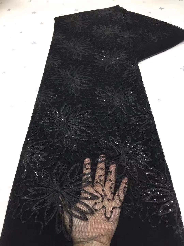 عالية الجودة 2021 قماش أفريقي بتخفيض مذهل النسيج لحفل الزفاف مطرز أسود فرنسا شبكة أقمشة الدانتيل الخوخ النيجيري الحبل الدانتيل X
