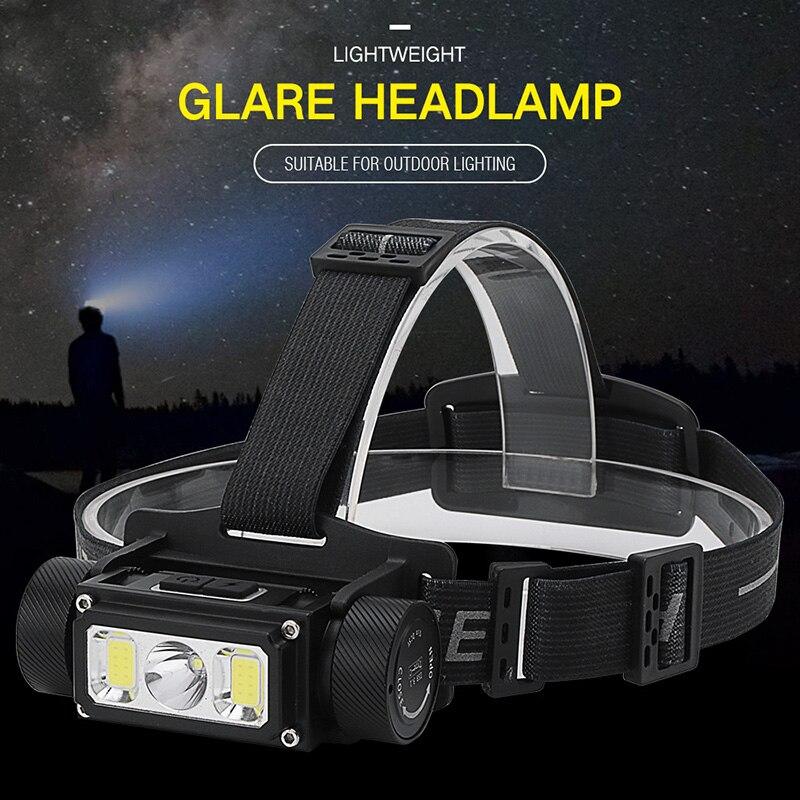 ¡Nuevo! Linterna LED Boruit B40 1200LM L2 COB, linterna frontal LED 18650 21700 a prueba de agua, linterna Led para cabeza de pesca para Camping