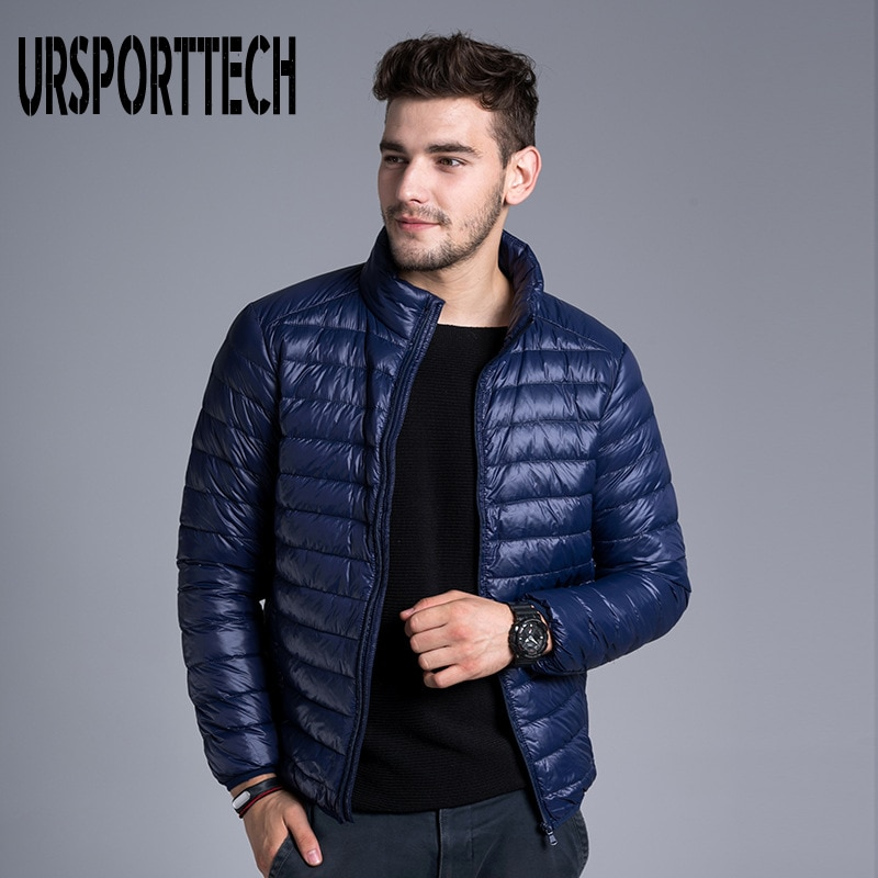 Куртка URSPORTTECH Мужская короткая, брендовая, осенне-зимняя, легкая, приталенная, большого размера 3XL