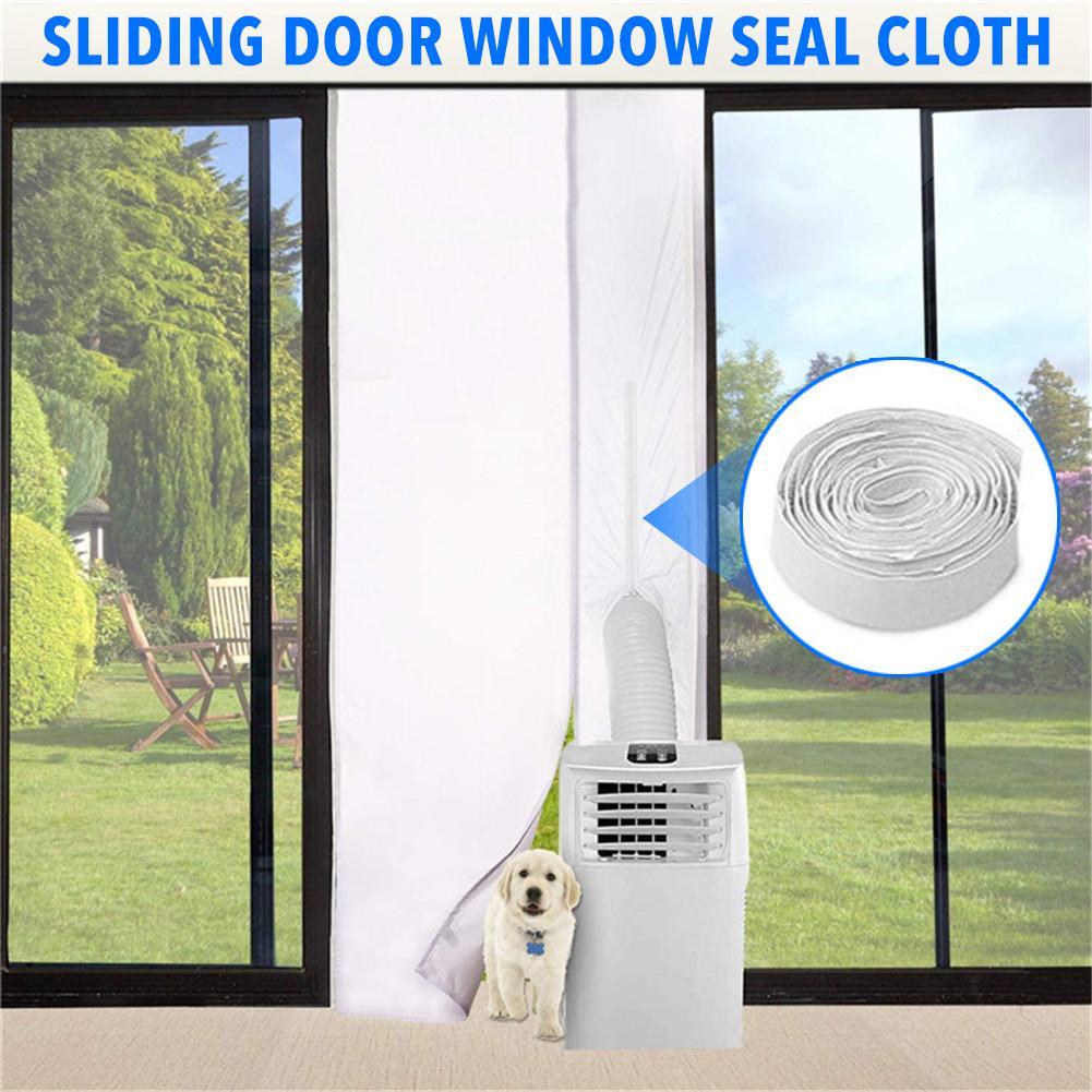 Sello de ventana portátil, tope de aire caliente impermeable, protectores de intercambio...