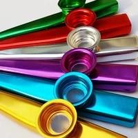 multicolor metal kazoos musical instruments flutes with kazoo flute diaphragms good companion for guitarukulele violin piano