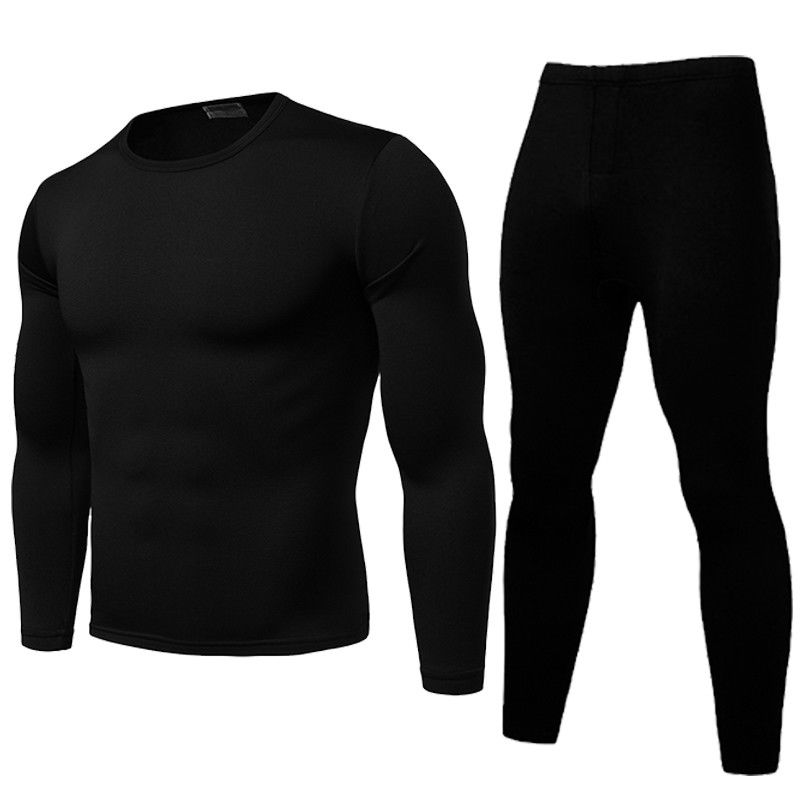 2pcs Men Thermal Underwear Set Winter Long Johns Pajama Set Fit Tops Bottoms Winter Warm Velvet Inne