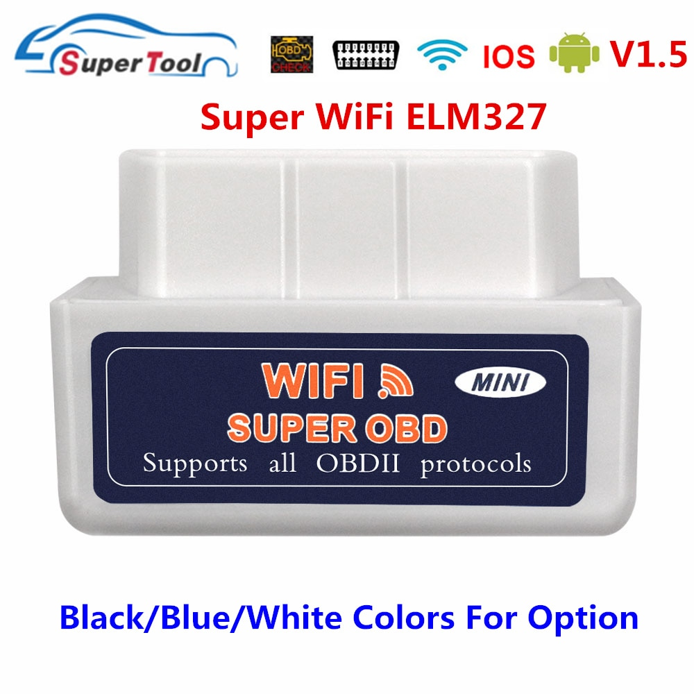 OBD2 Scanner ELM327 V1.5 WIFI OBD 2 Automotive Diagnostic Scanner For Car OBDII ELM 327 WI-FI 1.5 Diagnostic Tool Code Reader