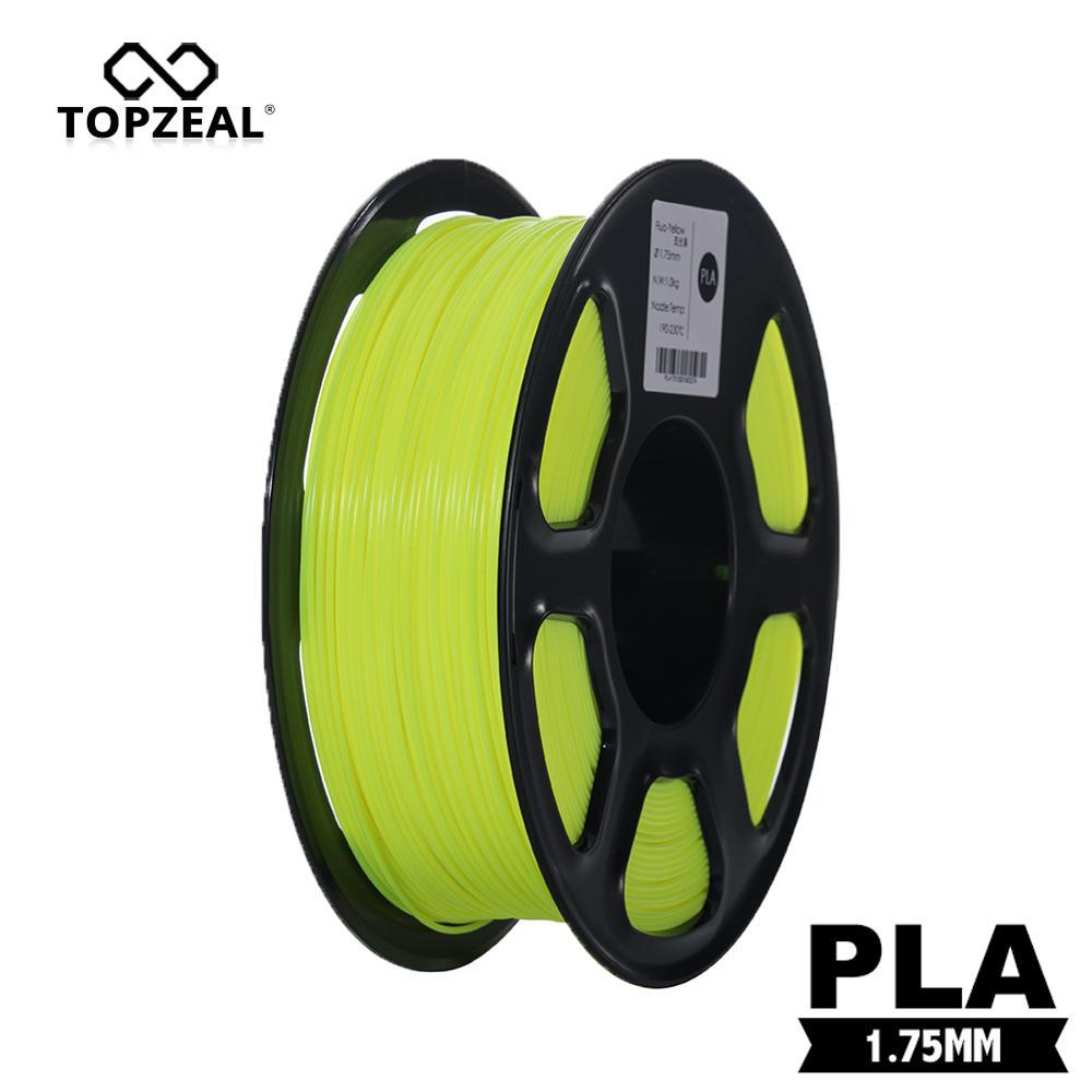 TOPZEAL Fluo-Yellow 3D Printer PLA Filament 1.75mm 1KG for 3D Natural Materials 3D Printer Supplies