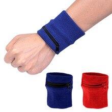 Sport Wrist Wallet Pouch Running Travel Cycling Safe Bag Zippered Pocket Towel Sports Sweat-absorbent Warm Wristband