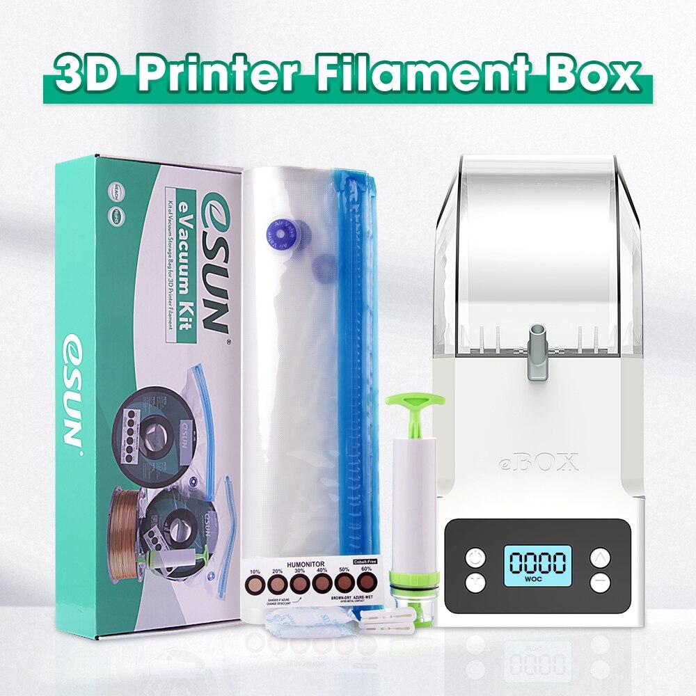 Сумка для сушки катушек eSUN для 3D-принтера, Герметичный вакуумный пакет для хранения 3D печати, шелк пла ПЭТГ, ТПУ Филамент, сохраняет сухость, избегает попадания влаги