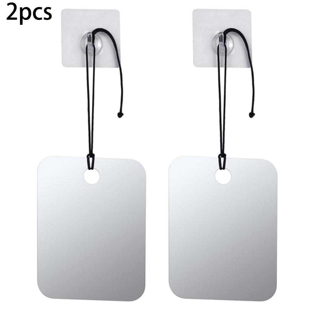 Espejo de ducha antiniebla espejo de baño sin niebla espejo libre de niebla 6,8 x 5,2 PC espejo accesorios de baño