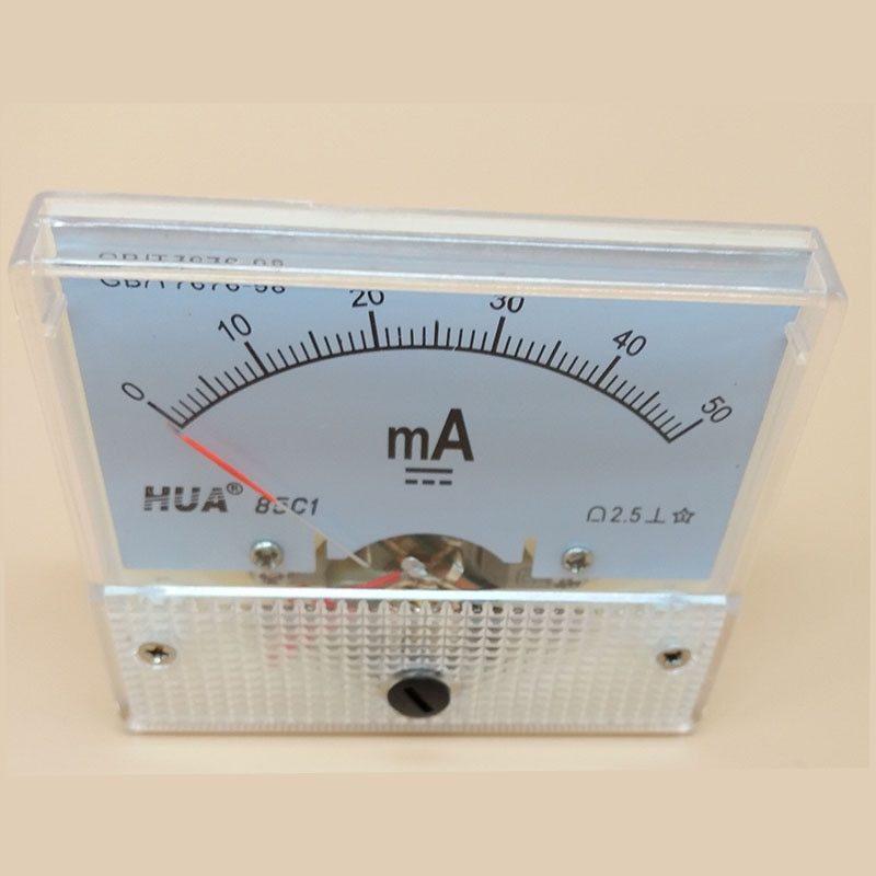 Amperemeter 0-50ma para testar a corrente da máquina de gravura do laser do co2