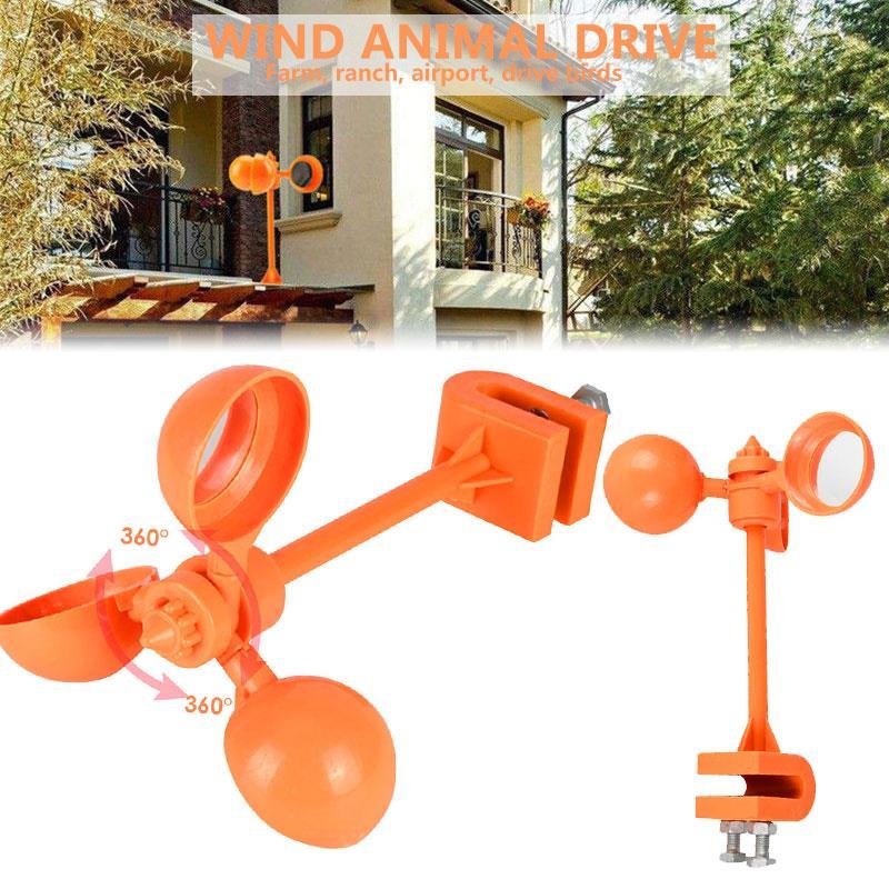 Dispositivo para ahuyentar aves, espantapájaros, repelente de pájaros, Crop Garden para exterior, palomas, cuervos, césped, herramientas creativas para espantar plagas