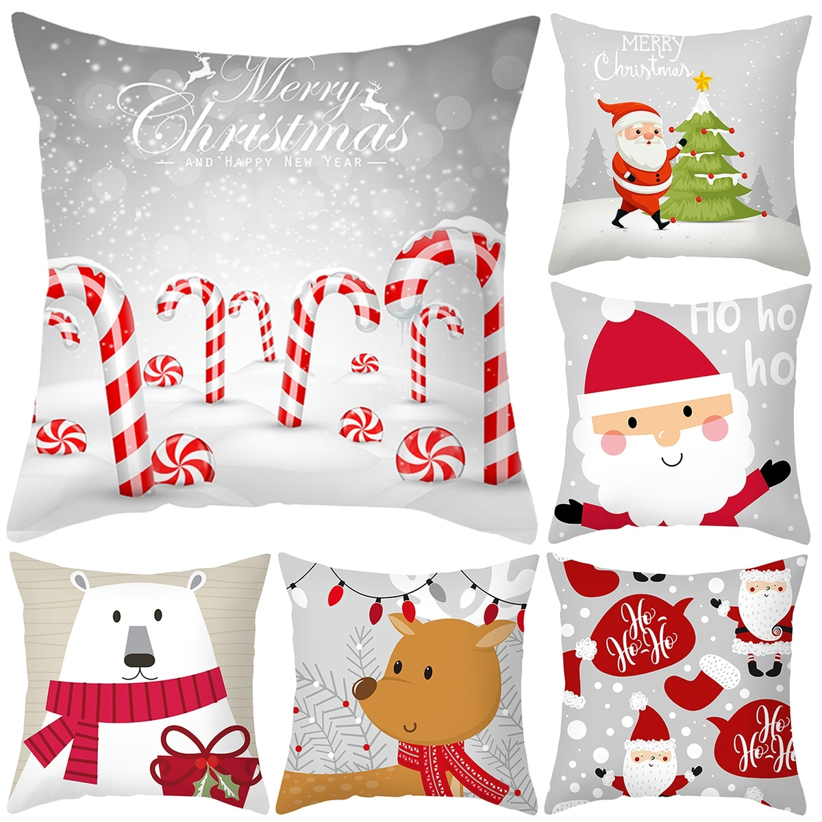 merry christmas cushion cover christmas decorations for home happy new year decor christmas ornament cotton linen pillow cover pillowcase 45cm x 45cm Christmas Pillowcase Decorative Sofa Cushion Case Bed Pillow Cover Home Decor Christmas Car Cushion Cover Pillow Case 45*45cm