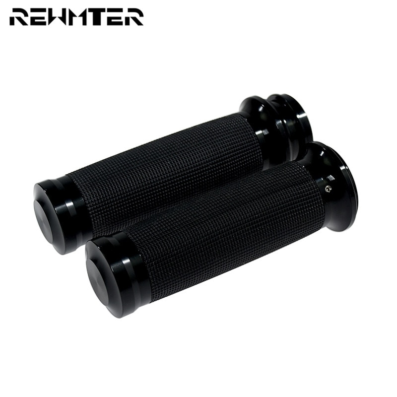 Motorcycle 1''25mm Electronic Hand Grips Black Handle Bar Grips For Harley Touring Ultra Limited Street Glide Softail FLS Dyna