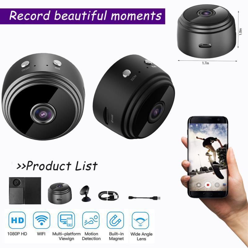 HD1080P WiFi IP Mini Camera A9 Wireless Micro Webcam Camcorder Video Recorder Remote View Hid-Den Su