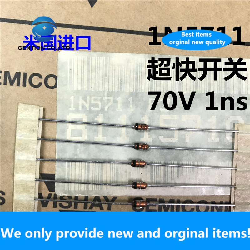 20 pces 100% original novo 1n5711 schottky diodo in5711 uísque importado original do-35 interruptor rápido 1ns 70v