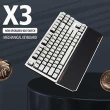 HEXGEARS X3 Gaming Mechanical Keyboard Hand Rest 87 Key PBT Keycap Kailh Upgrade BOX Switch USB /2.4G Wireless gamer Keyboard