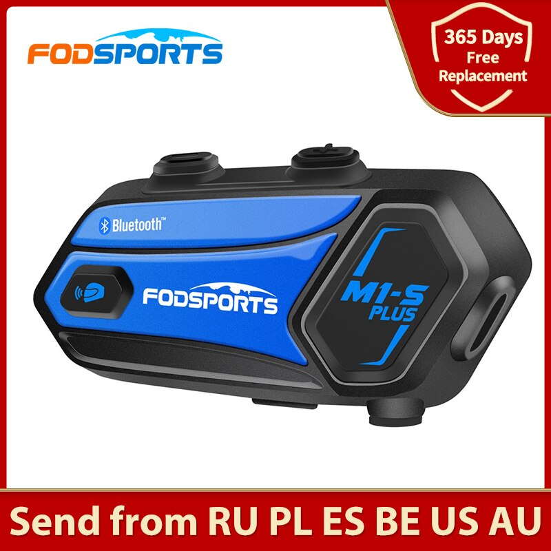Fodsports M1-S Plus intercom motorcycle helmet bluetooth headset 8 riders 2000M intercomunicadores moto FM music sharing