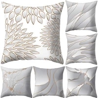 leaf line plaid print throw pillow case cushion cover home car sofa couch decor living room office hotel decoration
