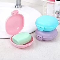 plastic soap box container creative with lid travel accessory useful soap rack portable soap case practical home products
