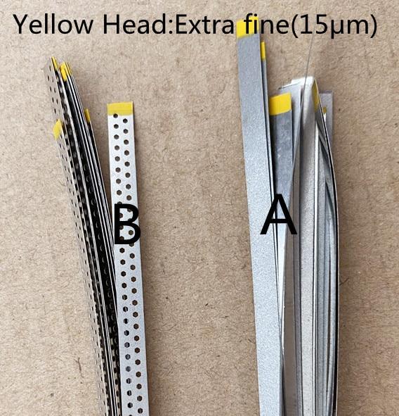 Dental Stainless Steel Diamond Polishing Finishing Strips Sand Yellow Extra Fine 15μm