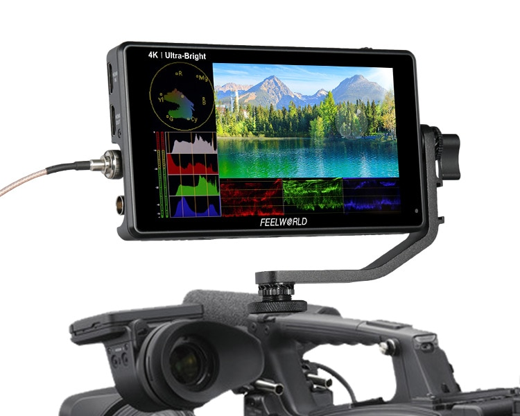 Feel world LUT6S 6 بوصة 2600 nits جهاز المراقبة الميدانية HDR/ثلاثية الأبعاد LUT مع 3G-SDI 4K HDMI IPS شاشة باللمس على حامل ملحقات الكاميرا الأخرى