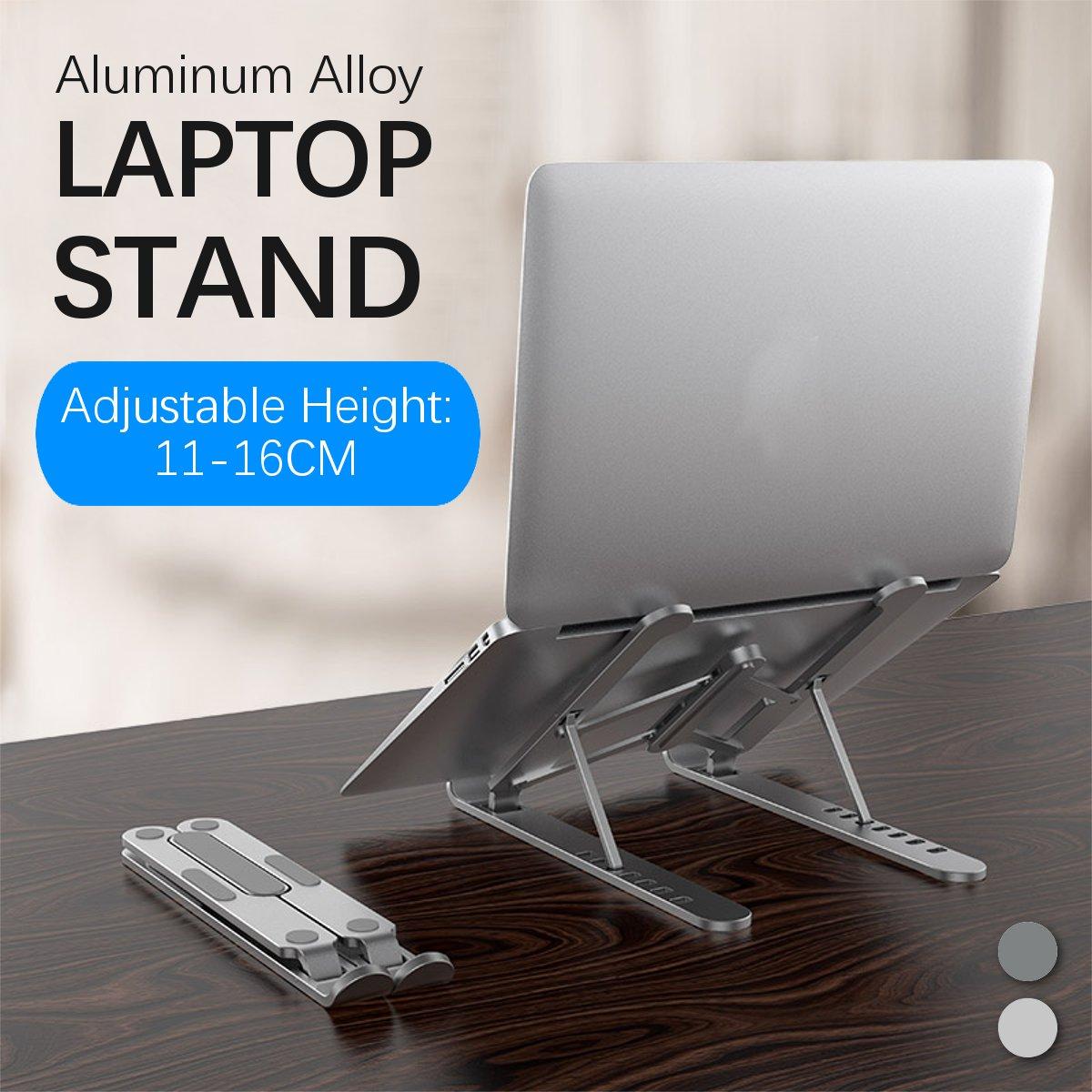 Suporte portátil dobrável 7 níveis ajustável notebook titular liga de alumínio tablet suporte riser para macbook/lenovo/samsung pc