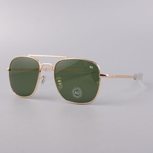 AO brand Aviation Sunglasses Men Brand Designer American Army Military Optical Sun Glasses For Male