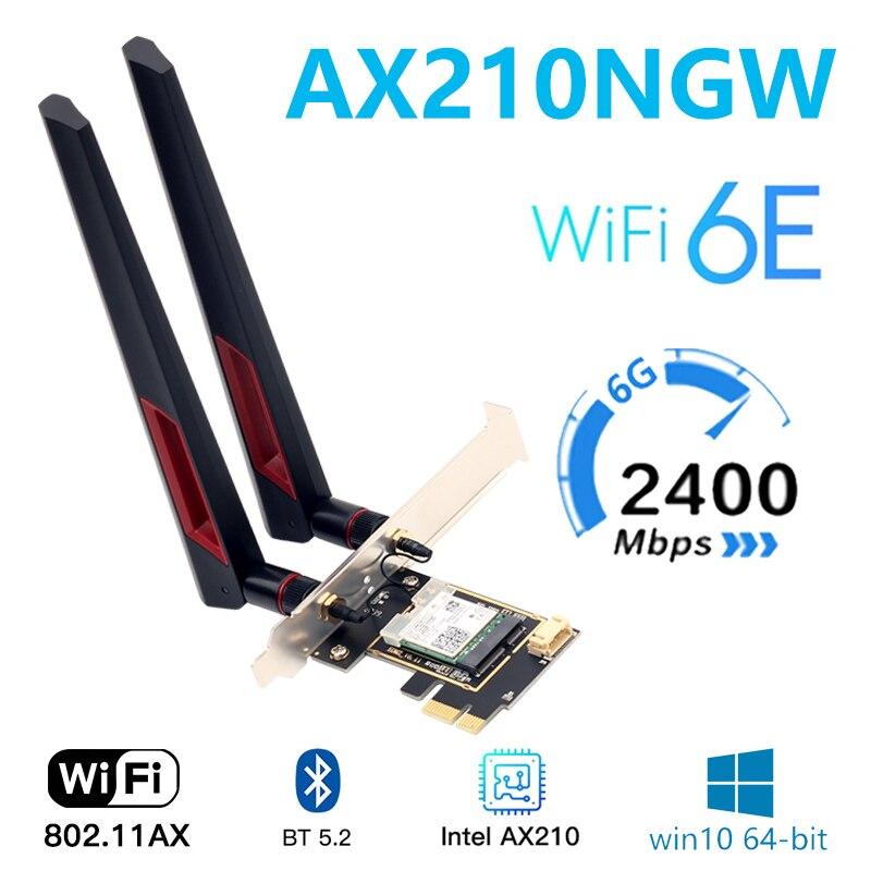 Tri band Intel AX210 AX200 8265AC AX210 wireless Wi Fi 6E 802.11AX 5374M desktop wireless network card Bluetooth 5.2 supports 6G