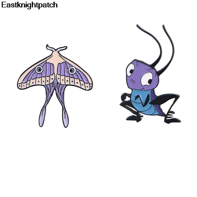 E1962, broches de hormiga de insecto de dibujos animados, alfileres de aleación de Zinc, Insignia de medalla para mochila, bolsa de ropa, insignias de decoración