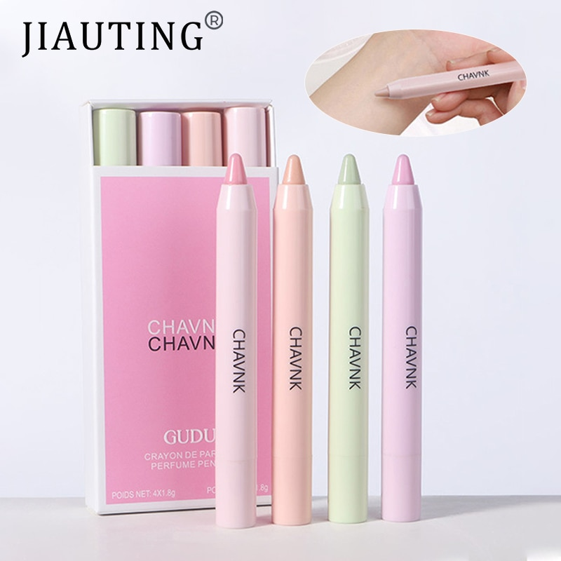 JIAUTING Perfume For Women Long Lasting Portable Solid Perfume Fragrances Solid Stick Perfume Parfum Cologne Fragrance Flower perfume sample paper jam perfume 3 ml variety of flower type lasting perfume beauty products