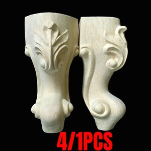 4/1PCS Solid Wood Furniture Legs Replacement Feet Support For Sofa Couch Chair Coffe Tea Table Cabinet TV Stands 150mm/180mm