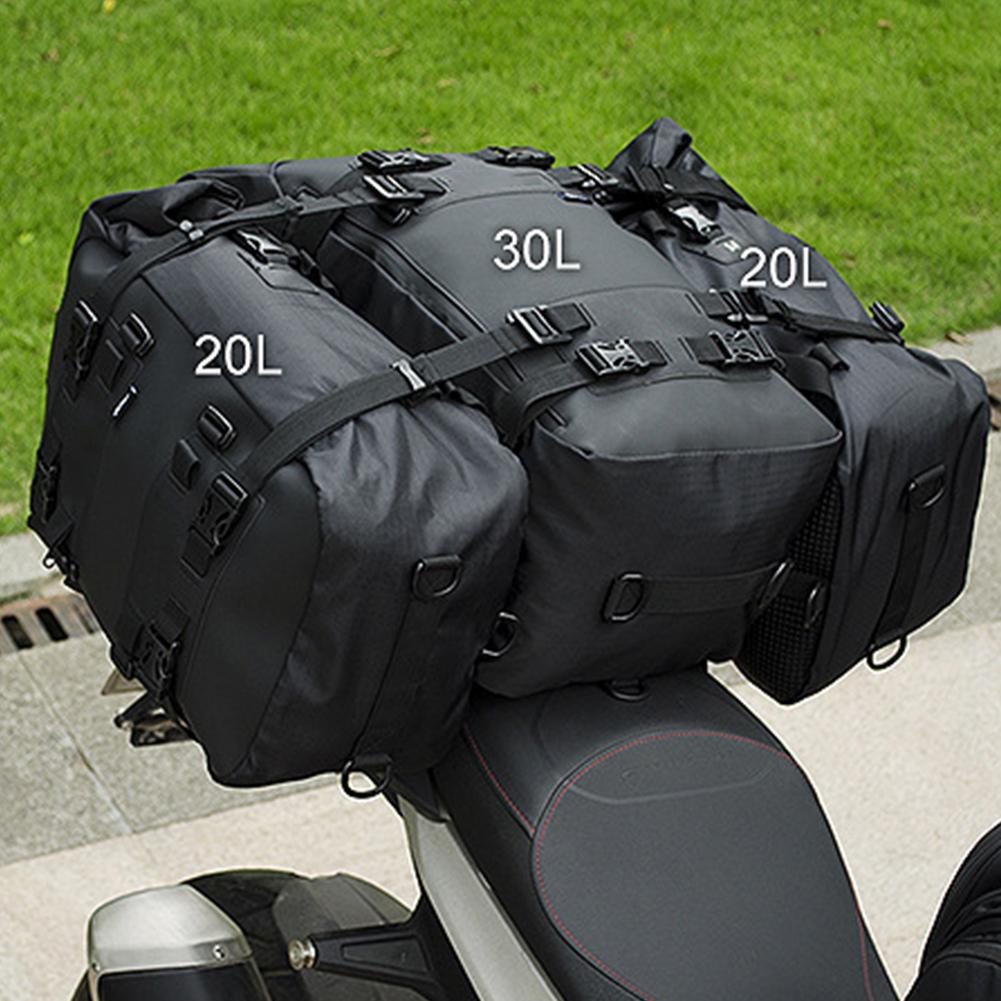 حقيبة ظهر مقاومة للماء للمقعد الخلفي ، 10 لتر ، 20 لتر ، 30 لتر ، حقيبة سرج مقاومة للماء للدراجات النارية