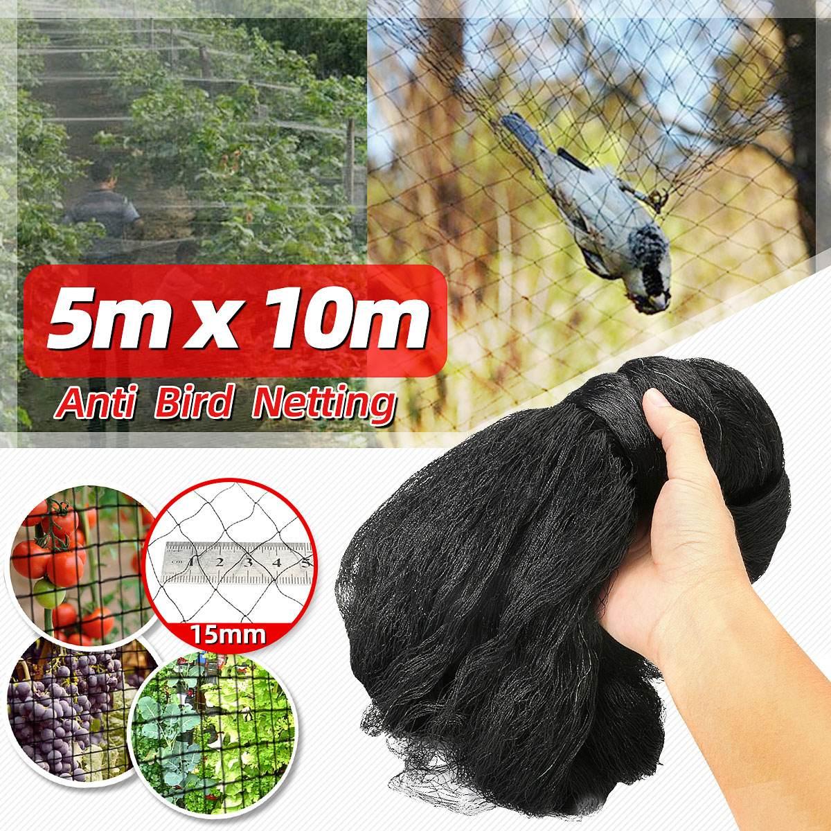 5x10M antiaves, Catcher para cultivos, Control de plagas, Protector de malla de árbol para jardín, red roja para estanque, trampas de red para pesca, herramientas para agricultura