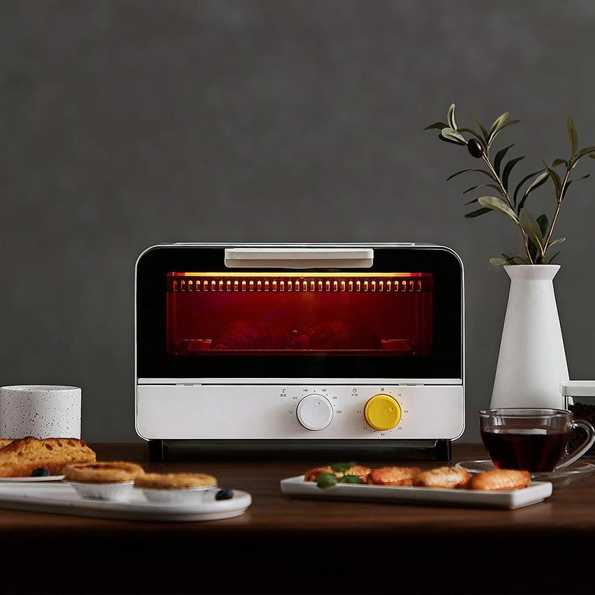 أفران كهربائية 12L فرن البيتزا الصغيرة مع 6 التروس قابل للتعديل درجة الحرارة فرن خبز فرن إلكتروني صغير شواء الهواء 220 فولت 800 واط