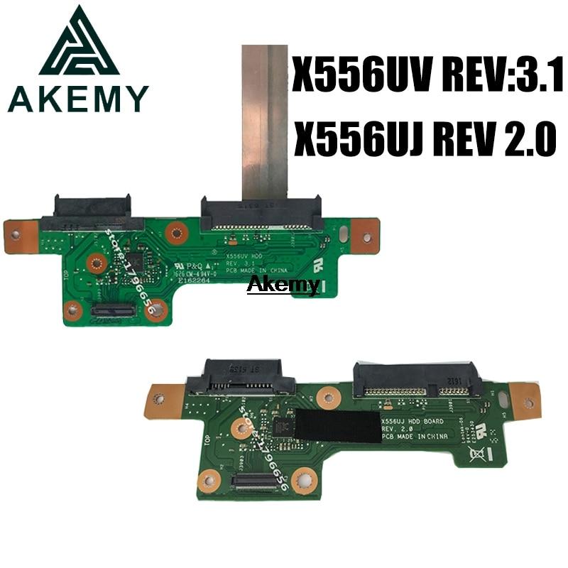 Akemy HDD BOARD لـ Asus X556U X556UV X556UJ X556UV X556UB X556UA X556UF, REV:3.1 REV 2.0 اختبار 100% ٪ شحن سريع
