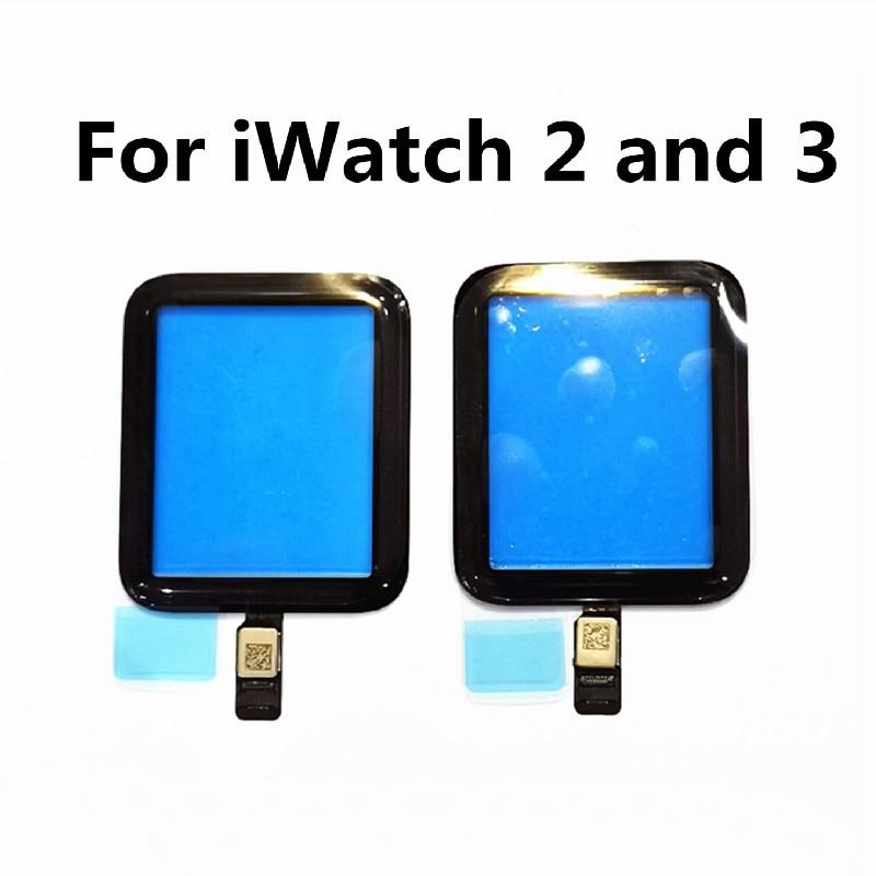Para iWatch 2, iWatch 3, Digitalizador de pantalla táctil para Apple Watch 2 Series 2, Serie 3, pantalla de cristal táctil frontal para reparaciones de la serie 2