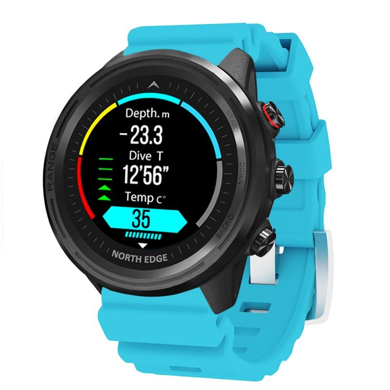 NORTH EDGE Men's Smart Watch GPS Men's Compass Waterproof Diving 50M Heart Rate Fitness Outdoor Watch