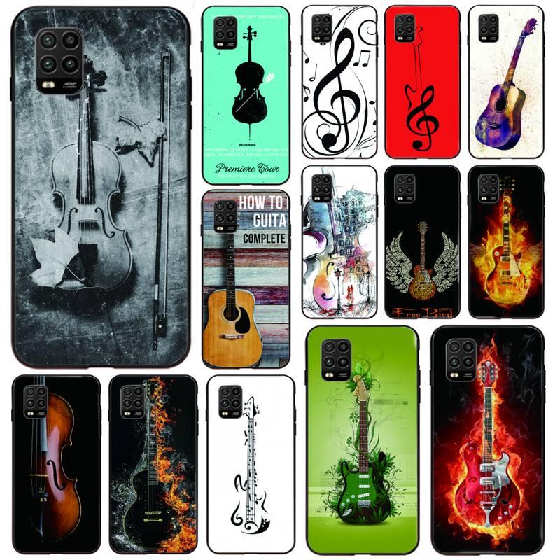 Custodia per telefono con Cover per chitarra per violino musicale per Xiaomi 6X 8 8Lite 9T 10 10Lite Note 8 8T 9Pro 9Promax